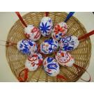 121. Kézi festésű tojás kék mezei virágok -pipaccsal 1190.- / db