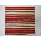 302. Szőttes párnahuzat, sűrű mintás, piros 40 x 40 cm
