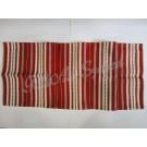 305. Szőttes  futó, sűrű csíkos, piros 40 x 135 cm
