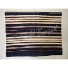306. Szőttes párnahuzat, sűrű csíkos kék, 40 x 50 cm
