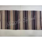 307. Szőttes futó, sűrű csíkos , sötétkék 40 x 100 cm