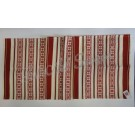 317. Szőttes futó, piros csillagvirágos, 45 x 150 cm