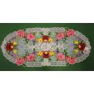 246. Kalocsai, rishelt  futó, színes virágos, 35 x 80 cm