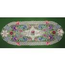 248. Kalocsai, rishelt szélű futó, lila virágos 30 x 80 cm