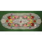 247. Kalocsai, rishelt szélű futó, színes virágos 30 x 80 cm